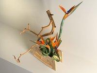 strelitzia ikebana 3D model