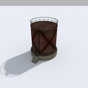 industrial tank 3D