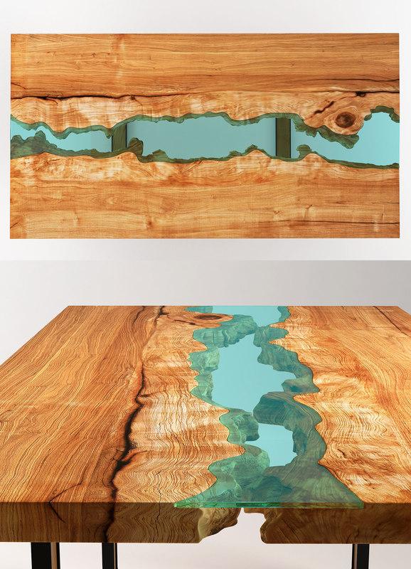 3D greg klassen river conference table