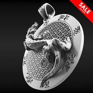 chinese draco pendant 3D model