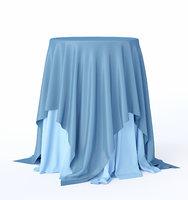 3D sky-blue cocktail table