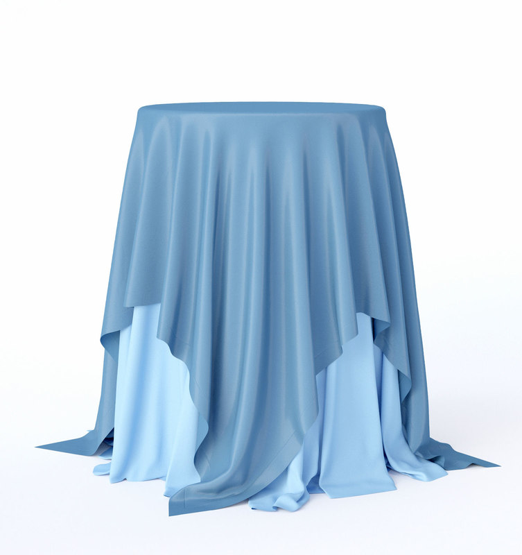 3D sky-blue cocktail table