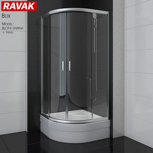 3D shower room ravak blix model