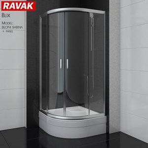 3D shower room ravak blix model
