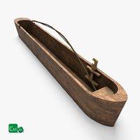 3D wooden canoe