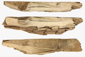 broken plank 3D model