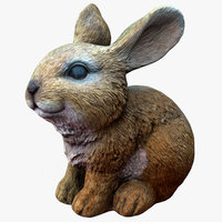rabbit statue scan 3D model
