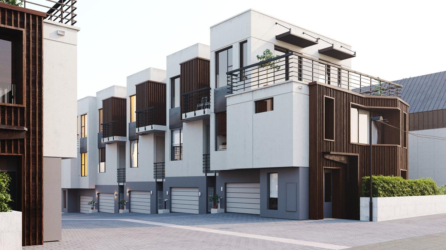 3D architecture house model