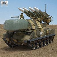 3D buk m1 missile