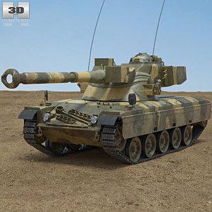 sk-105 kurassier sk 3D model