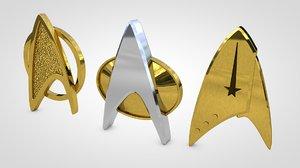 startrek badges 3D