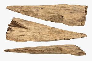 3D broken plank