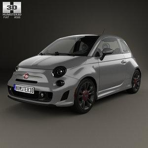 3D model fiat 500 turbo