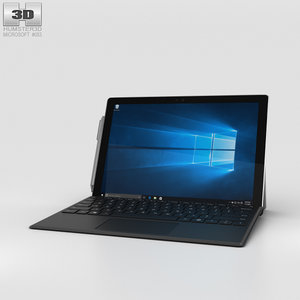 microsoft surface 4 3D model