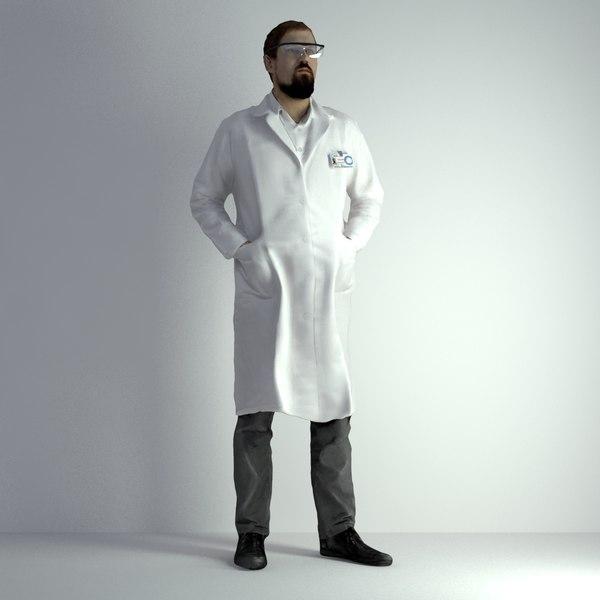 3D scanned man 024