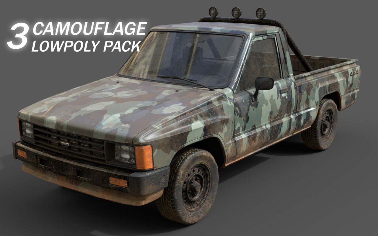 pbr camouflage model