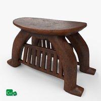 antique stool 3D