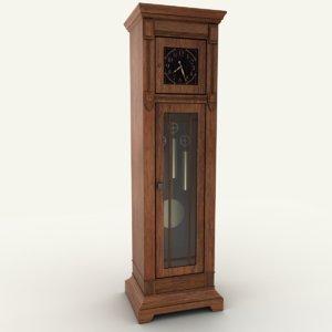 3D floor clock