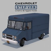 3D model chevrolet step-van p20