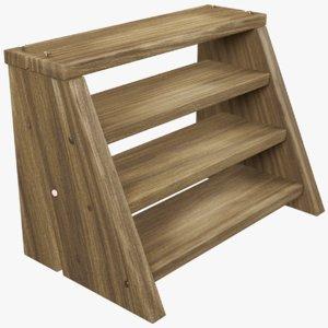 small wooden ladder 3D