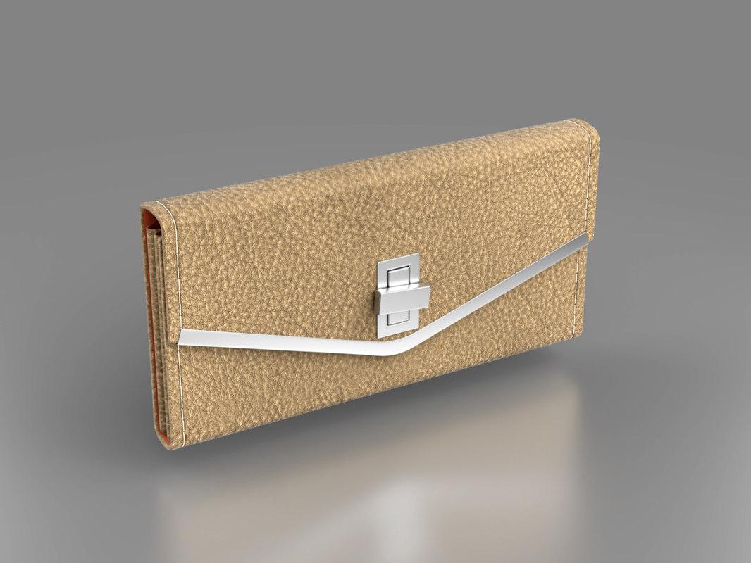 3D stylish woman s purse model