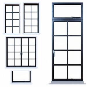 3D steel windows