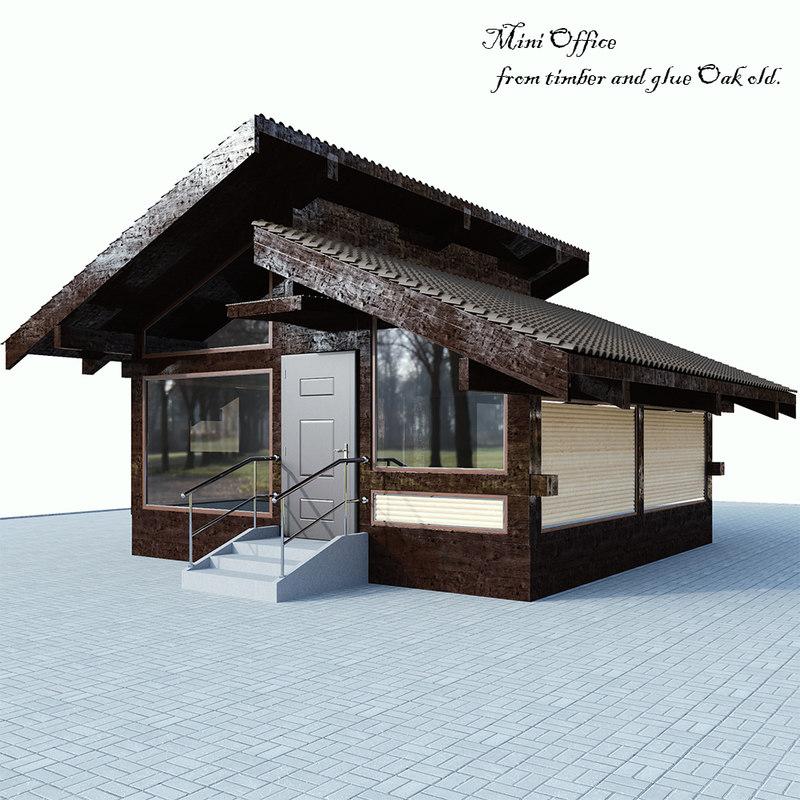 cottage laminated oak 3D