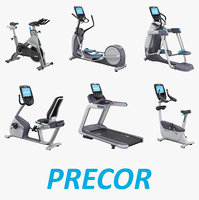 exercise equipment professional set 3D model