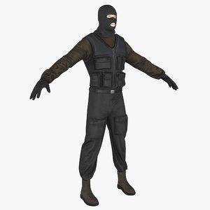 robber corona 3D model