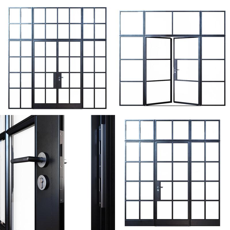 3D steel doors model