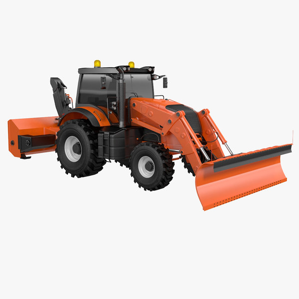 snow removal tractor 3D model