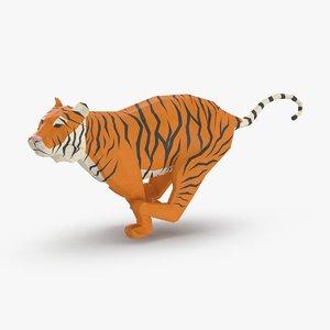 3D tiger---running model