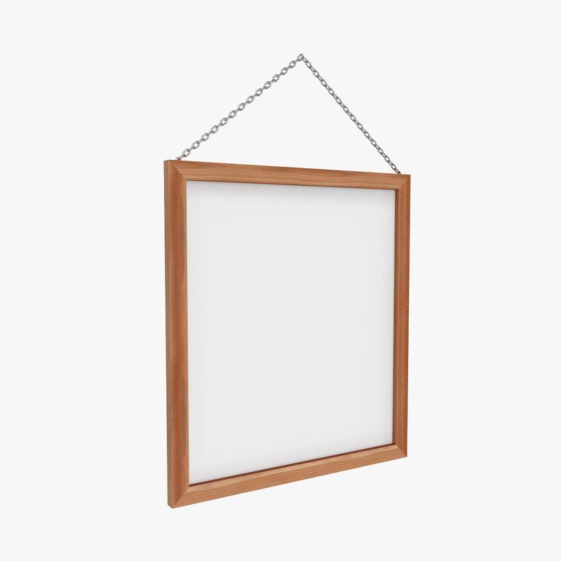 wooden frame 3D
