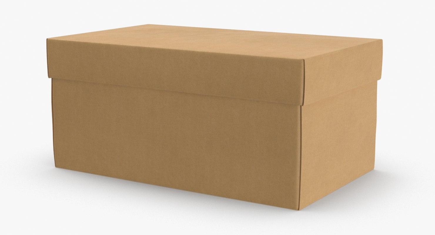 shoe-boxes---brown 3D model