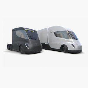 ready tesla semi truck 3D model