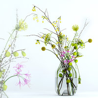 3D model realistic flowers twigs s