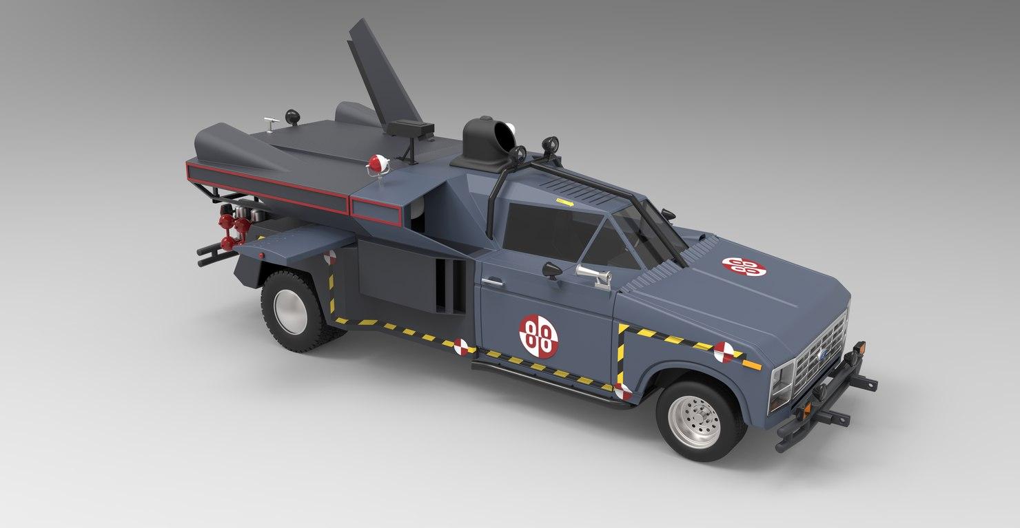 3D buckaroo bonzai jet truck
