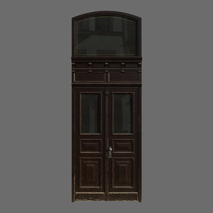 door wood polys 3D
