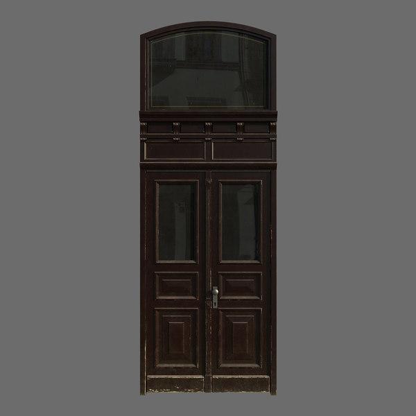 door wood polys 3D