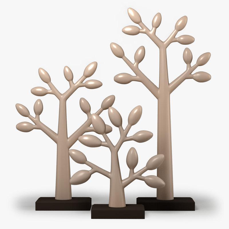 3D clay trees model