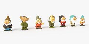 seven dwarfs 3D model