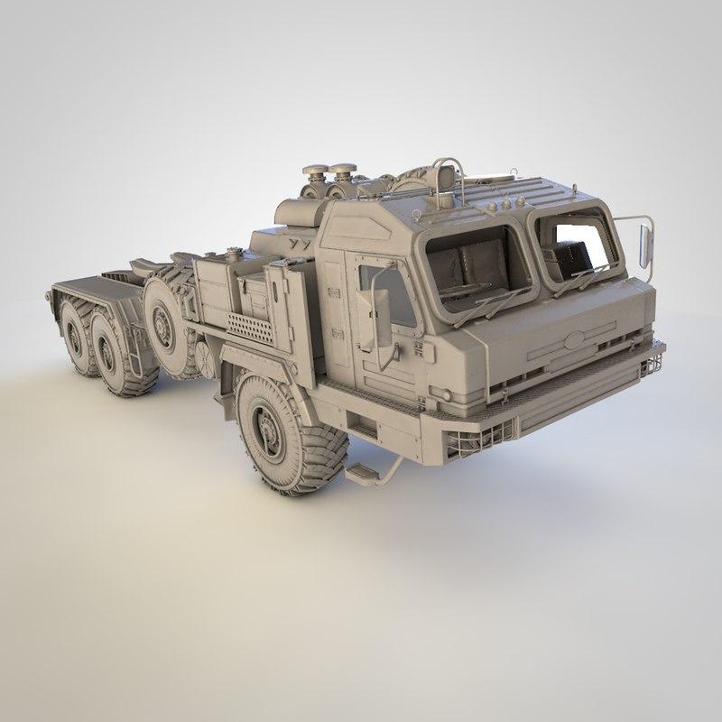 russian baz 6306 military truck 3D model