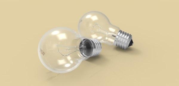 light lightbulb bulb 3D model