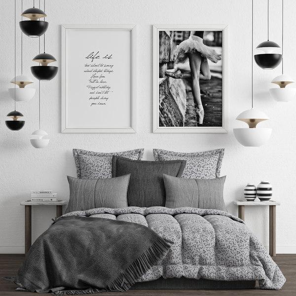 bedroom set 3D