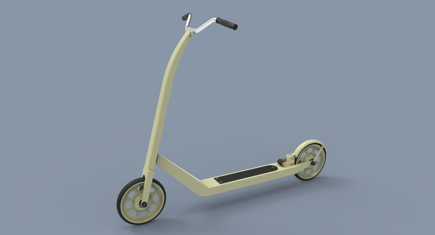 kick scooter 3D model