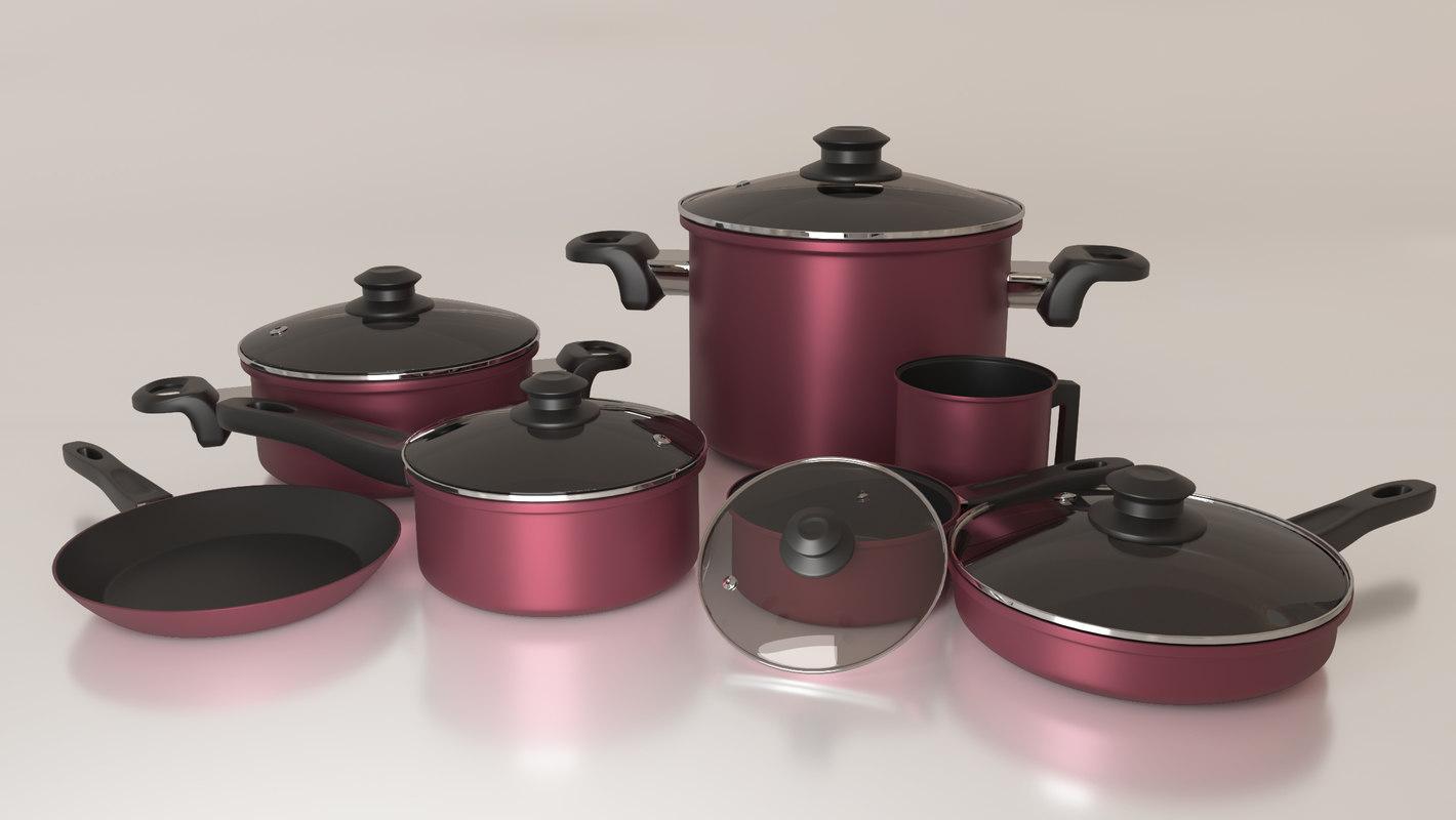 3D pan casserole model