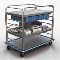 3D model medical supply cart