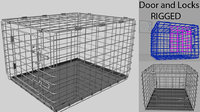 Animal Dog Crate Rigged