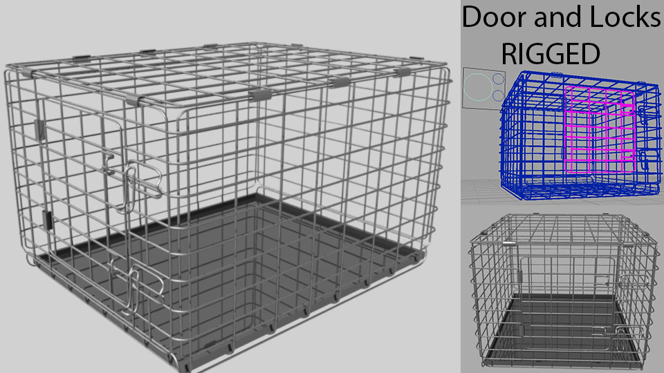 3D crate rigged animating