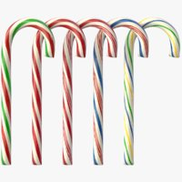 realistic candy cane color 3D model